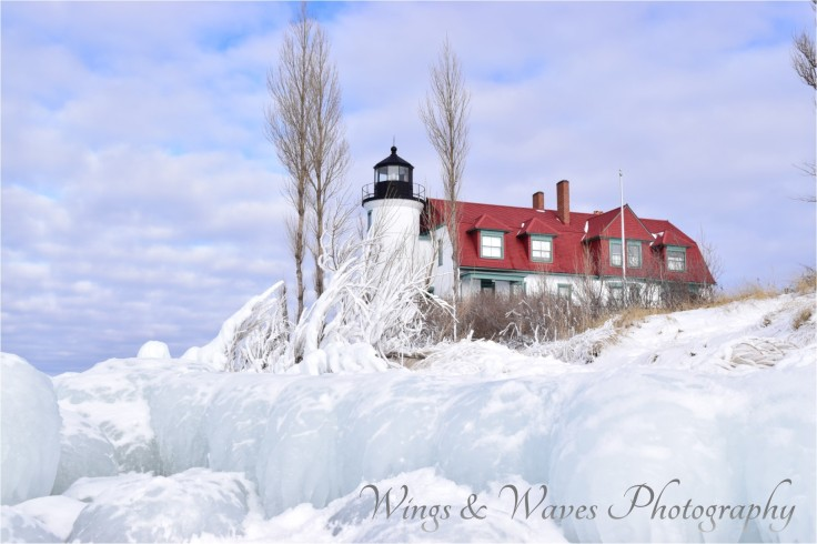 Point Betsie in ice
